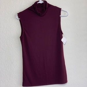 NWT Halogen Turtleneck Sleeveless Top